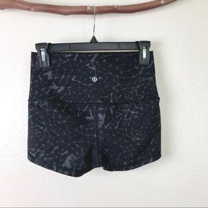 Lululemon High Waist Booty Shorts